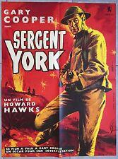 Affiche SERGENT YORK Sergeant York GARY COOPER Walter Brennan R60x80cm *