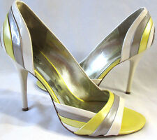 GUESS By Marciano Granite Cream Beige Yellow Patent Leather D'Orsay Pump Women 9
