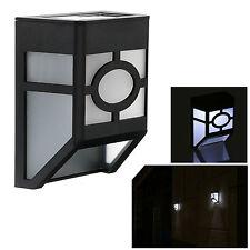 NUEVO Energía Solar lámpara de pared valla 2 LED Iluminación Exterior Accionado