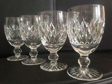 SET 4 Waterford Crystal BOYNE  Claret White Red Wine Glasses Goblets 4.75""