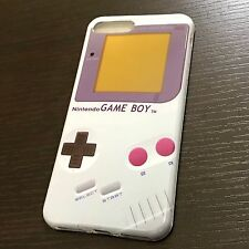 For iPhone 7+ Plus - HARD TPU RUBBER GUMMY SKIN CASE COVER GRAY GAMEBOY PLAYER