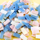 130+ PCS 10*20mm Stained Glass Mosaic Pink Blue Series Crystal Translucent 200g