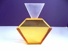 SIGNED Modern Lucite Acrylic Perfume Bottle Sculpture Decor Van Teal Haziza 2115