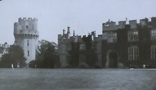 Court of Warwick Castle, England, Antique Magic Lantern Glass Slide