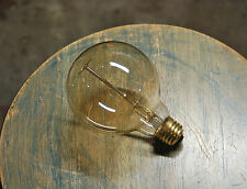 Edison Globe Light Bulb - G30 Size, 60 Watt Clear Glass Lamp, Vintage Filament