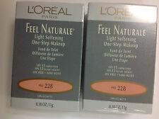 ( LOT OF 4 ) L'OREAL FEEL NATURALE LIGHT SOFTENING ONE STEP MAKEUP PALE #228 NEW