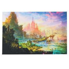 Psychedelic Trippy Art Silk Fabric Cloth Castle Poster Wall Decor 36x24 inch