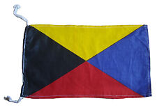 "Z - Naval Signal Flag - 100% Cotton – Marine Code - 8"" X 13"" - Nautical / Boat"