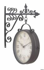 Large Train Station Clock Indoor Outdoor Double Sided Roman Nice Christmas Gift