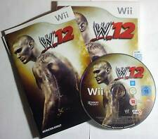 W12 WWE 12 2012 Wrestling for Wii - complete - exc cond. - free post