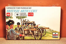 1/72 ESCI NAPOLEONIC WARS WATERLOO 1815 BRITISH ARTILLERY MODEL KIT # 215