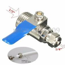 1/2''-1/4'' RO Feed Filter Water Adapter Ball Valve Tap Reverse Osmosis Switch