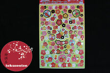 AUTOCOLLANT JAPONAIS STICKERS JAPAN TRADITIONAL PATTERNS YUZEN WAGAMI SAKURA