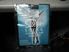 Silkies Ultra Control Top Medium Off Black Ultra Sheer Legs Nylon Tights