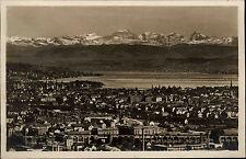 Zürich Schweiz s/w Postkarte ~1920/30 Panorama von der Weid Berge ungelaufen