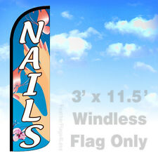 Flag Only 3' WINDLESS Swooper Feather Banner Sign - NAILS bq