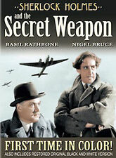 Sherlock Holmes and the Secret Weapon (Colorized / Black and White) Basil Rathb