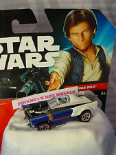 2016 Hot Wheels Star Wars HAN SOLO ✰White/Blue;Redlines✰Loose✰✰Character car