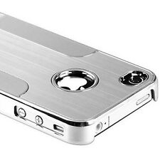 Apple iPhone 4  4S Cover Chrome Alu Hard Case für Schutz Hülle Metall Kunststoff
