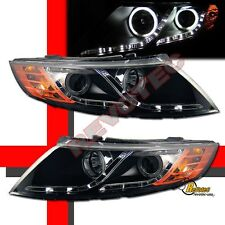 Black CCFL Halo R8 LED Strip Projector Headlights For 10 11 12 13 Kia Optima