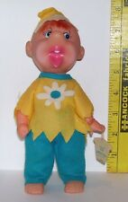 VINTAGE TAGGED HOLIDAY FAIR 8 INCH DOLL CURLY 1966 JAPAN D2-595