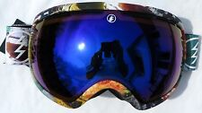 NEW $180 Electric EG2 Adult Winter Snow Ski RARE Goggles Spy Blue Chrome Lens