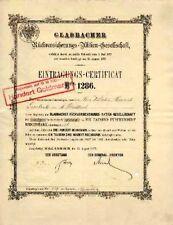 Gladbacher riassicurazione möchengladbach azione ordinaria 1877 colonia Axa Assicurazioni