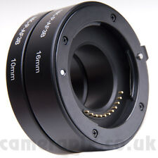 Electronic Automatic AF Auto Focus Macro Extension Tube Set for SONY NEX E-mount