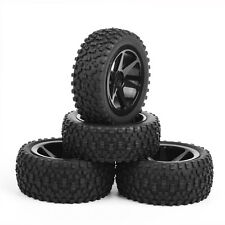 CA 4Pcs RC Front & Rear Off-Road Rubber Tires &Wheel Rim For 1:10 Buggy Car B03