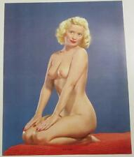FAIR LADY NUDE BLONDE CLASSIC POSE 1960 SALESMAN SAMPLE PHOTO CALENDAR PIN-UP