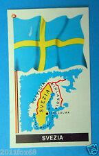 figurines stickers picture cards figurine bandiere del mondo 37 svezia folgore