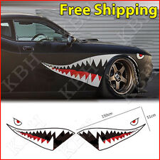 150cm Full Size Shark Mouth Tooth Flying Tiger Die-Cut Vinyl Decal Sticker Car A