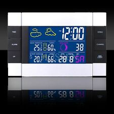 RF Wireless Thermometers Outdoor Weather Station Forecast LED Color Backlighting
