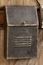 Mailbox-Cottage Style slot House -Metal Rustic/Aged/Vintage Primitive Mail Box
