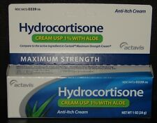 Hydrocortisone 1% Cream with Aloe Maximum Strength Anti-Itch 1oz Tube