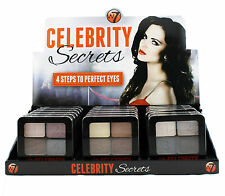 18 x W7 Celebrity Secrets 4 steps to perfect eyes | on Display | Wholesale
