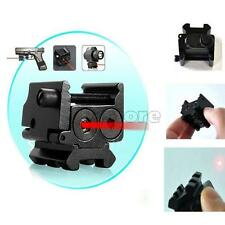 New Compact 650nm Red Laser Gun Sight Dual Picatinny Weaver Rail Mount SR1G