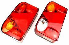 2 Anhänger Rückleuchten Reflektor SET mit Leuchtmittel 12V PKW LKW Trailer Wagen