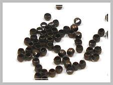 100 Quetschperlen 2mm bronze Perlen