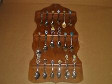 Souvenir Spoon Rack, Holds 18 Spoons, Spoons Included, U.S.A., Worldwide