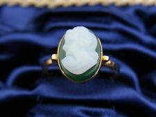 schöner alter Ring 750/-Gold ca. um 1910 Art Deko Paris Achat Gemme