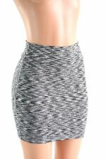SMALL Black & White Spandex Bodycon Mini Skirt Clubwear NWT