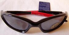 occhiali da sole ciclista ginger  zx 346 c1 cat3 colore nero, stanghette rosse
