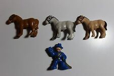 Lincoln Logs lot of 3 horses and sheriff for your log cabin