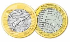 BRAZIL - 2016 RIO OLYMPIC GAMES - 1 REAL COIN - SWIMMING