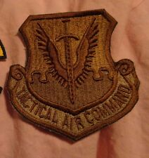 USAF PATCH,TACTICAL AIR COMMAND, DARK BROWN FOR MULTICAM/SCORPION
