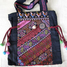 LARGE EMBROIDERED HMONG HANDBAG ANTIQUE CLOTH NEW MADE THAILAND CHICKENS