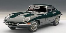 1:18 AUTOART JAGUAR E-TYPE COUPE SERIES I 3.8 Green with metal wire spoke wheels