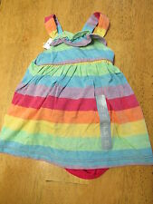 NWT Baby Gap Infant 0-3 mo DRESS SET 2 pc White with Dots OR Colorful Stripes
