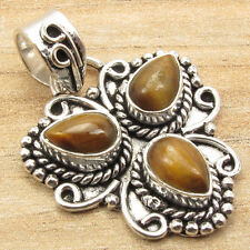 Free Shipping on Additional Items! 925 Silver Plated Tiger's Eye Pendant ART